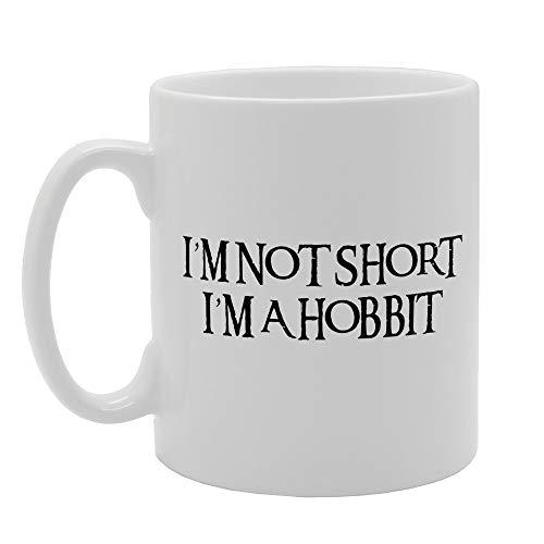 MG2553 - Taza de cerámica con texto en inglés 'I'm Not Short I'm A Hobbit'