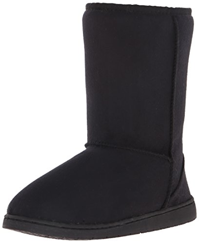 DAWGS Women's 9 Inch Faux Shearling Microfiber Vegan, Black, 8 M US