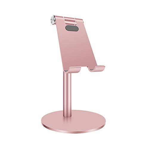 HSAW Soporte Tablet Escritorio portátil telescópica Lazy posición creadora de Aluminio Tablet PC Soporte del teléfono Teléfono Titular turística (Color : Rose Gold, Size : One Size)