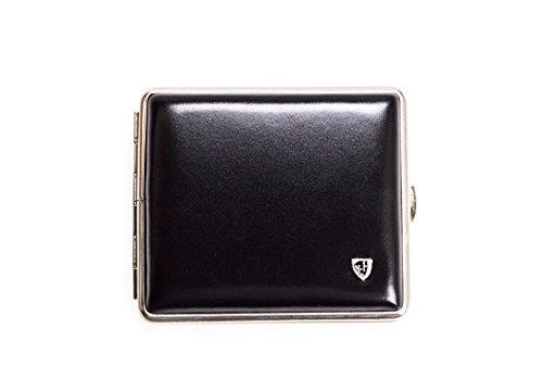 Zigaretten Etui aus weichem Soft-Leder schwarz