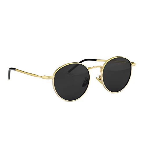 Navaris Fliegerbrille Piloten Sonnenbrille polarisiert - Metall Pilotenbrille für Damen und Herren - Unisex Brille mit Metallrahmen