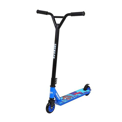 RPOLY Roller Freestyle Tretroller, 360 Grad Trick Spin Streetscooter Leichte Stunt Scooter mit Alu-Deck 220lb Max Laden Mehrere Farben,Blue_ 64x49x82cm