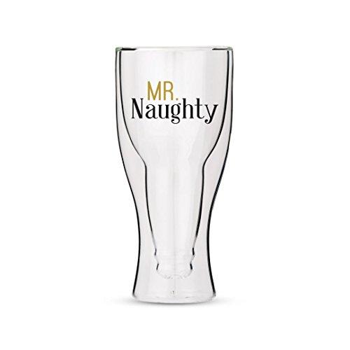 Weddingstar Verre à bière à Double paroi avec Mr Naughty Motif