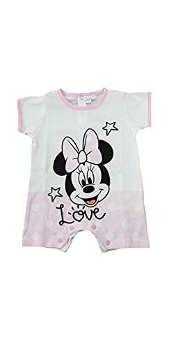 Sicem International Srl Mono corto para niña de verano de algodón Jersey canastilla para bebé (B2WD101757, rosa, 0-1 mes)