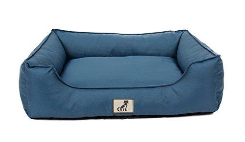 Alle Pet Lösungen Dexter Weich Waschbar strapazierfähige Korb Hundebett, wasserfest, mittelgroß, Blau