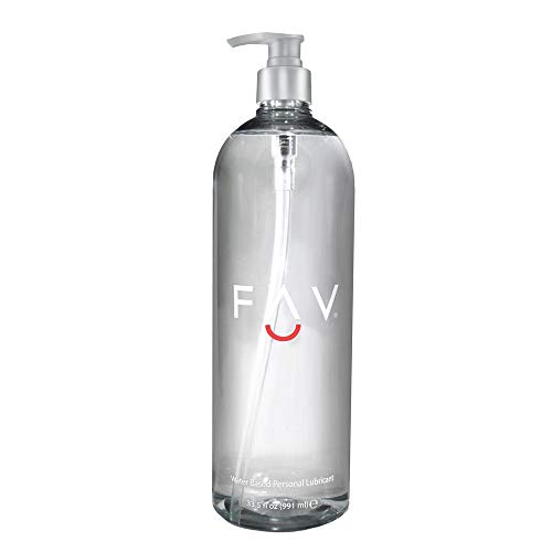 FAV Water Based Luxury Personal Lubricant, 33.5 Fl Oz