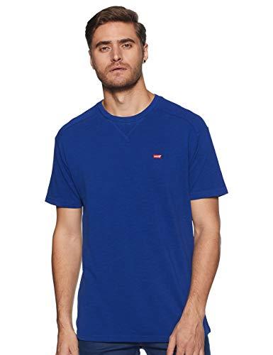Levi's Men's Plain Regular fit T-Shirt (81794-0000_Blue M)
