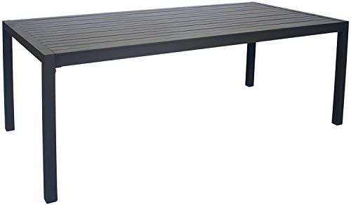 Hévéa Table de Jardin en Aluminium Sarana 190 cm