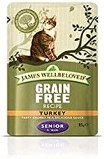 James Wellbeloved Cat Turkey Senior Pouch 12 x 85gm (1.02kg) (Pack of 4)