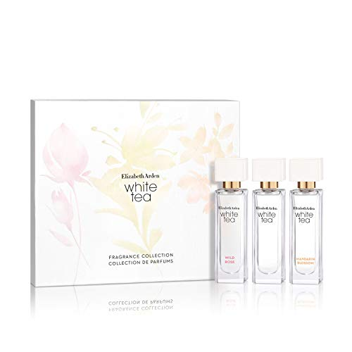 Elizabeth Arden White Tea 3 Piece Fragrance Gift Set Coffret, Perfume for Women, 0.33 oz.