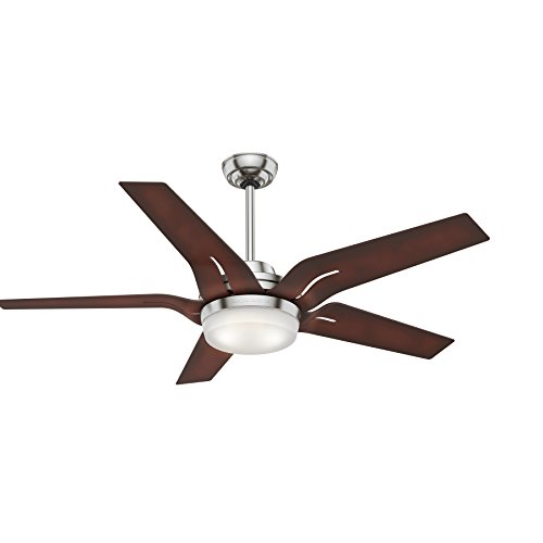 Casablanca Indoor Ceiling Fan with LED Light and Remote Control - Correne Gables 56 inch, Brushed Nickel, 59198