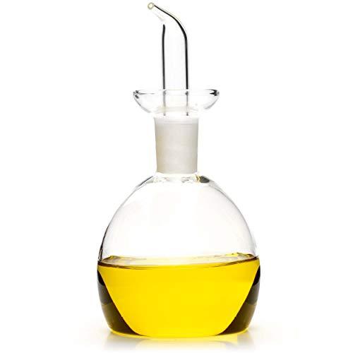 Classe Italy Oliera salvagoccia Redonda Dosatore Olio e Aceto, 125 milliliters, Vetro Borosilicato-Senza Piombo, Cadmio ne BPA
