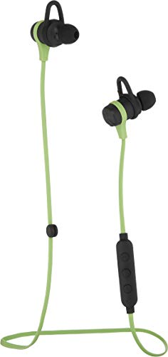 AmazonBasics Wireless Bluetooth Fitness Headphones Earbuds with Microphone, Green