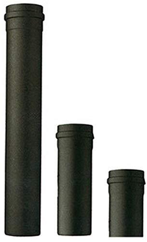 Tubo stufa a pellet acciaio SAVE mm 80 cm 25 50 100 curva 45° 90° T rosone condensa (Tubo 25 cm mm 80)