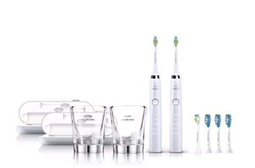 Philips Sonicare DiamondClean Rechargeable Electric Toothbrush 2-Pack White
