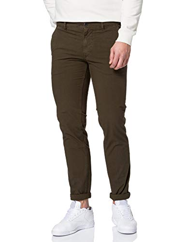 BOSS Herren Schino-Slim Slim-Fit Hose aus strukturierter Stretch-Baumwolle