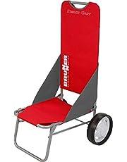 BRUNNER Beach Cart Red, multifunctionele strand- en zeewagen, wasbare stof en parapluhouder