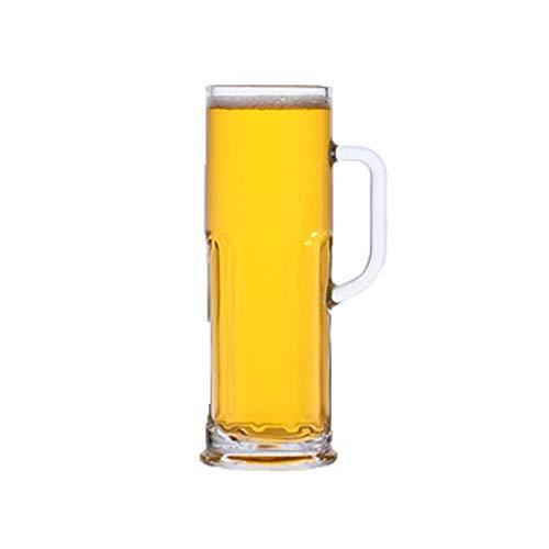 Taza de cerveza de gran capacidad con gafas de cerveza de mango ideal para las tazas reutilizables de la fiesta, fácil de limpiar, jarras clásicas de cerveza de vidrio clásico ( Style : B )