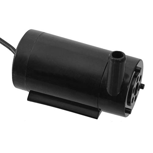 Tauchpumpe mini 3-5V Schwarz Liegend 180 l/h Modellbau Pumpe (Liegend)