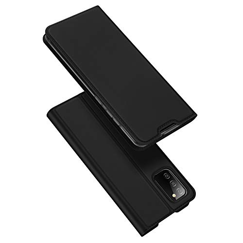 DUX DUCIS Case for Samsung Galaxy A02S, Ultra Fit Flip Folio Leather Case Cover with [Kickstand] [Card Slot] [Magnetic Closure] for Samsung Galaxy A02S (Black)