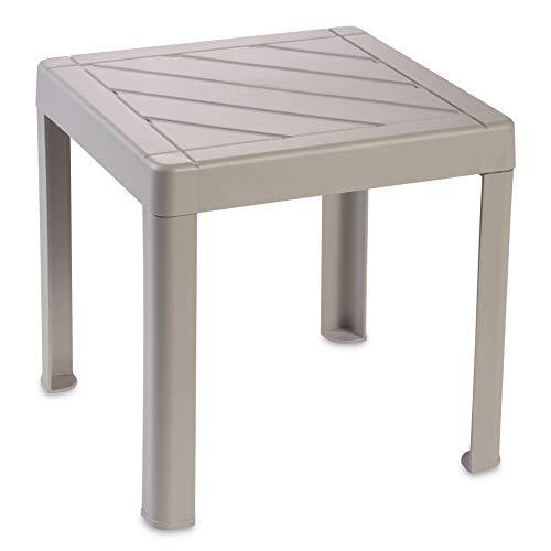 DEA HOME Tavolino Pop da Interni ed Esterni in Polipropilene, Dim. cm 39x39x38h, Art. 920 (Grigio Talpa)