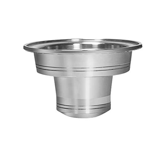 Color Yun Adaptador Cápsula De Café Reutilizable para Vertuo To para Accesorios De Filtro Nespresso (Plateado)