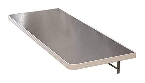 Sólido mesa plegable de mad era Acero inoxidable plegable Mesa de corte de acero colgante de pared comedor Tabla acero inoxidable cepillado encimera de aleación de aluminio banda de seguridad esquinas