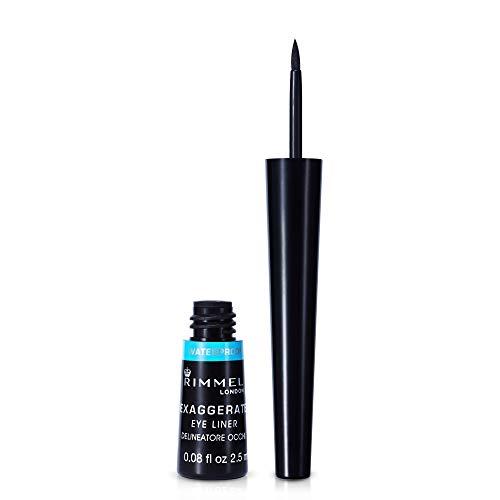 Rimmel London Exaggerate Automatic Eyeliner Waterproof - Delineador de Ojos Retráctil, Tono 003-Negro (Black), 0.28 gr