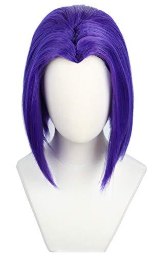 Codeven Short Hair Wigs Halloween Costume Cosplay Wig for Women (purple)