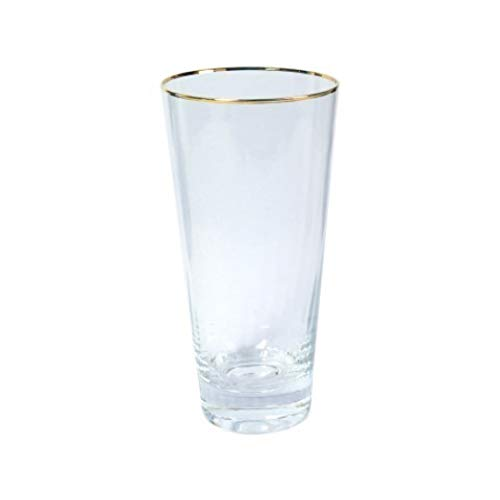 Vidal geschenken glas met gouden rand 16 cm