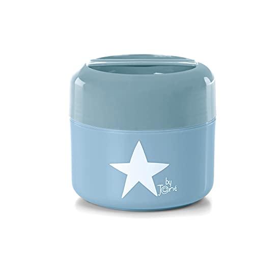 Jané 010497 T49 Termo para Papilla de 550 CC, Apto para Microondas y Congelador, Doble Pared, Para Frío y Calor, Azul