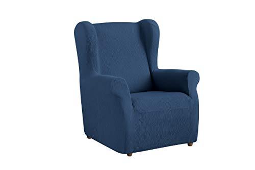 Textil-home Stretchhusse für Ohrensessel TEIDE, 1 Sitzer - 70 a 100Cm. Farbe Blau