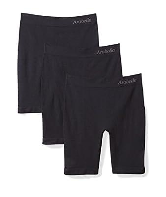 Amazon Brand - Arabella Women's Seamless Slip Short, 3 Pack,Sunbeige,Large