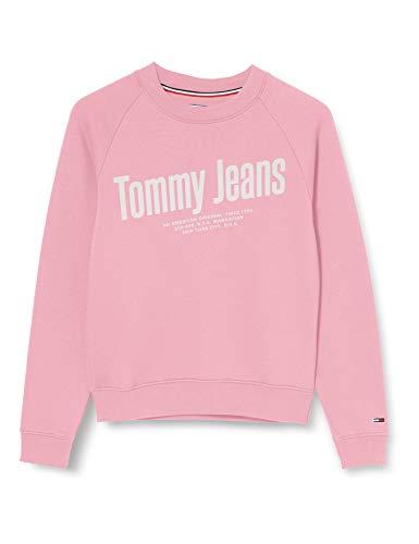 Tommy Jeans Tjw Chest Logo Sweatshirt Sudadera, Rosa (Pink Daisy TOU), 34 (Talla del Fabricante: X-Small) para Mujer