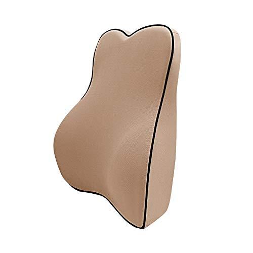 Cojín de soporte lumbar Cojín de almohada lumbar y soporte lumbar para silla de oficina Asiento de coche Cómodo espuma de memoria Para la silla de oficina. ( Color : Mocha , Size : 40x42x11cm )