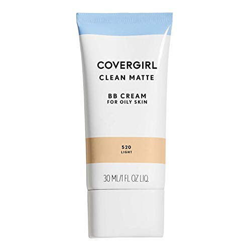 COVERGIRL Clean Matte BB Cream Light 520 For Oily Skin, (packaging may vary) - 1 Fl Oz (1 Count)