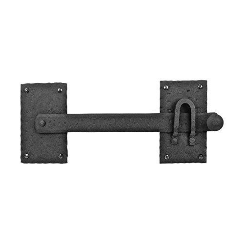 Large Fence Gate Latch Lock Black Rustic Reproduction Wrought Iron Hardware 12 Inch Renovators Supply Manufacturing