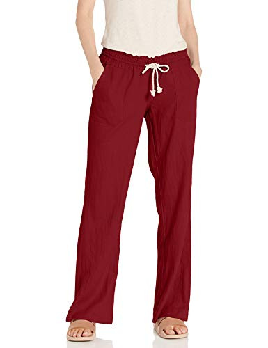 Roxy Women#039s Oceanside Beach Pant rhubarb XS