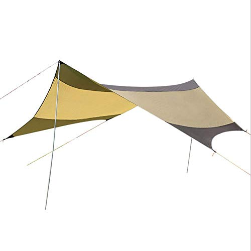 YXDEW Beach tent Portable Camping Tarp Shelter 18x18.4 Feet Waterproof Hammock Rain Fly Tent With Stakes Poles Ropes Survival Gear Kit For Fishing Picnic Outdoor Travel camping