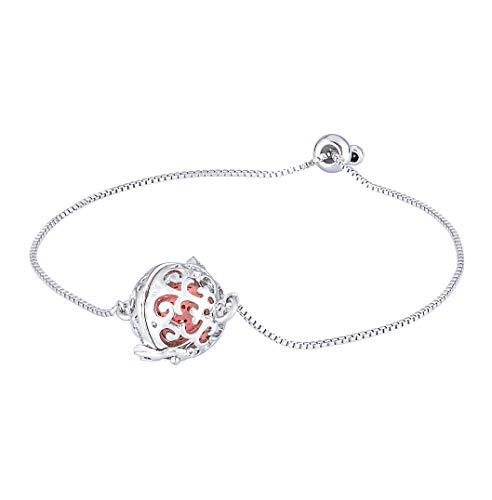 KY Jewelry Juego de pulsera con colgante de difusor de aceites esenciales de aromaterapia, diseño redondo hueco con piedra de lava colorida.