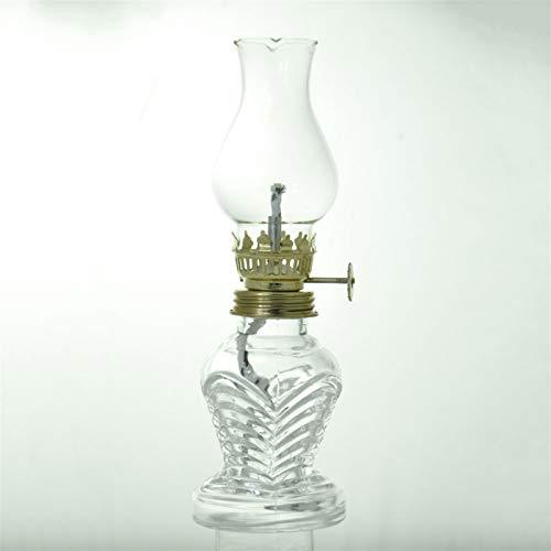 Nixi888 21 cm lámpara de aceite con cristal transparente iluminación interior lámpara de emergencia decoración cocina corte cristal kerosene lámpara