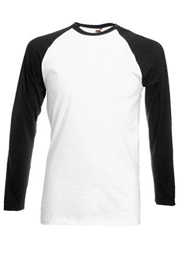Plain Gildan Cotton Blank Oversized Tshirt T-Shirt Black/White Men Women Unisex Long Sleeve Baseball T Shirt-S