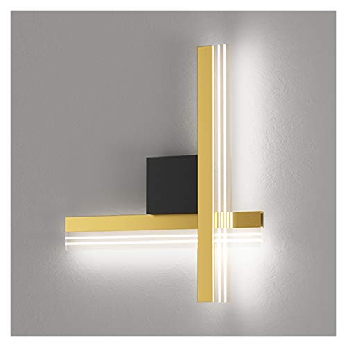 - Lámpara de pared con diseño de cruz artística, lámpara de pared LED creativa de lujo para salón, sofá, TV, fondo de pasillo, escalera, dormitorio, luz nocturna (color: luz blanca).