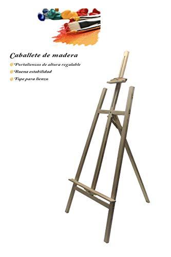 Chely Intermarket, caballete pintura 170 cm madera de pino con color natural, apto para carteles de eventos y lienzos, ligero para transportar