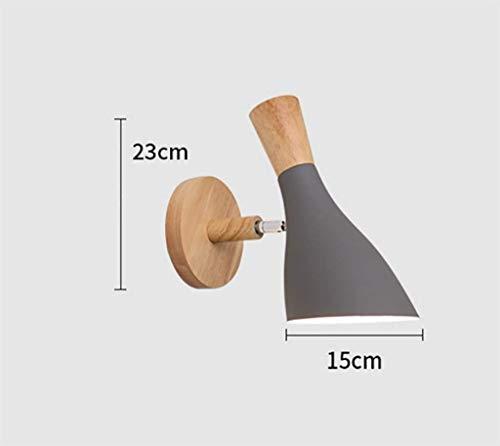 YANQING Duurzame Nordic Wandlamp Slaapkamer Nachtlampje Warm Persoonlijkheid Creatieve Eenvoudige Woonkamer Wandlamp Marca Verlichten Uw Leven (Kleur : Wit), Kleur: Wit