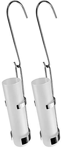 2-teiliges Set Luftbefeuchter aus Edelstahl - Glasbehälter -moderne Luftbefeuchter für die Heizung - Luftreiniger Wasserverdunster Verdamper verdunster - Wiederherstellung des Raumklimas