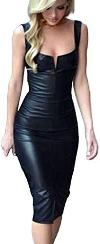 Falda De Cuero De Patente Faldas Cremallera Con Mini Mode Básicos Falda De Encaje Sin Fisuras Estiramiento Falda Corta Apretada De Mujer Negro Minifalda Ocio Lápiz Del Estiramiento De La Falda De