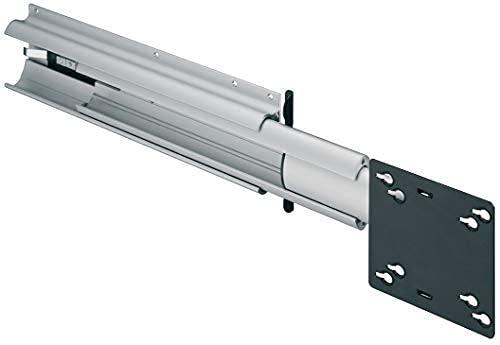 Gedotec Soporte giratorio para televisores de pantalla plana de 22 pulgadas para caravanas y armarios | Guía de TV para tornillos en la pared lateral | Aluminio Plata