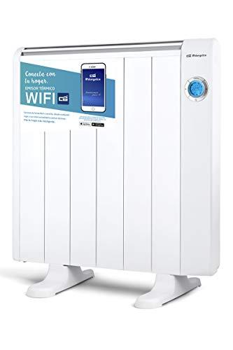 Orbegozo RRW 1200 - Emisor térmico bajo consumo Wi-Fi, 1200 W, pantalla digital LCD, programable, conexión inalámbrica mediante Orbegozo APP