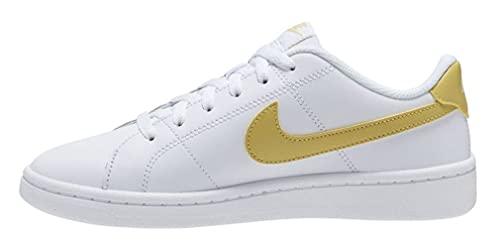 Nike Court Royale 2, Scarpe da Tennis Donna, White/Saturn Gold, 36 EU